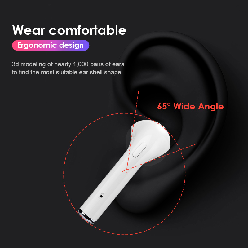 Abigail i10 TWS 5.0 Wireless Headphones Bluetooth Earphones With Dual Mics Sports Earbuds Headset Earpiece For Phones air pods