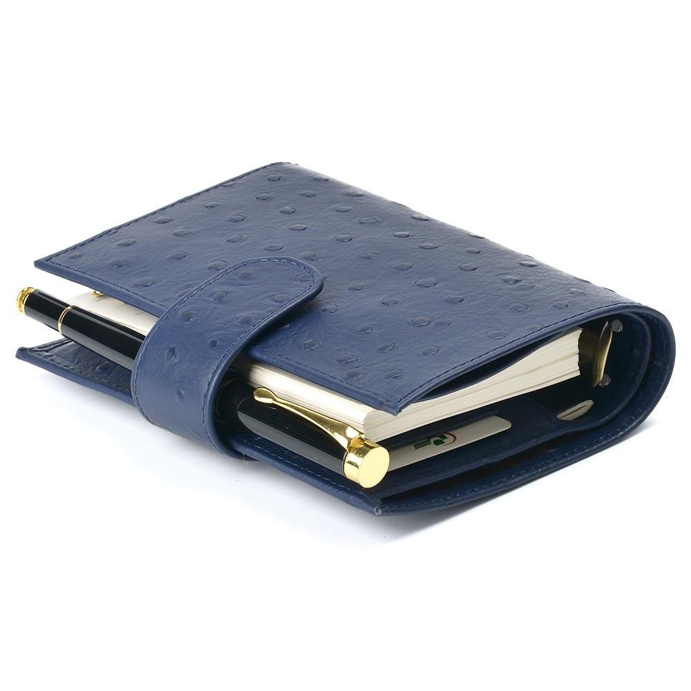 MIRUI anneaux en cuir cahier A7 taille en laiton classeur Mini Agenda organisateur en cuir de vachette Journal carnet de croquis planificateur grande poche