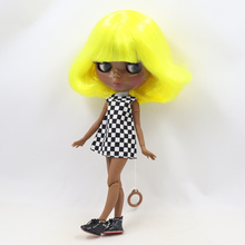 Factory Neo Blythe Doll Bright Yellow Short Hair Jointed Body 30cm
