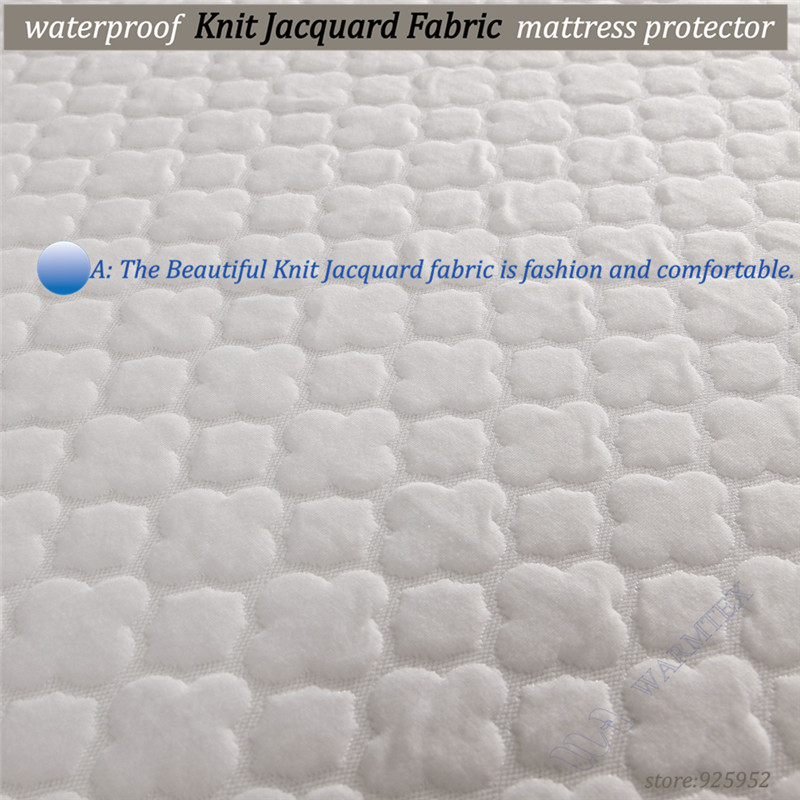 queen size 150x200cm 1.5m bed waterproof beautiful Jacquard cloth mattress protector mattress cover high quality --W008 A