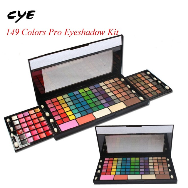 2016 Full Combination Cosmetic Makeup Palette 149 Colors Eyeshadow Primer Luminous Eye shadow Palette Lip Gloss Concealer Powers