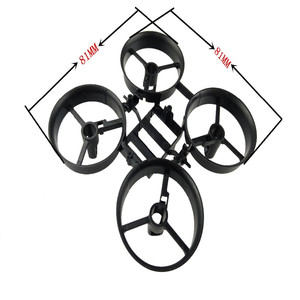 Image 4 - Bricolage Min Drone RC télécommande hélicoptère une clé retour sans tête quadrirotor hélice moteur batterie récepteur conseil accessoires