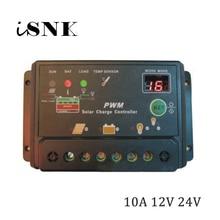 SCL-10A 10A за максимальной точкой мощности, Солнечный Контроллер заряда 12V 24V Батарея Зарядное устройство регулятор солнечных батарей уличного фонаря Зарядное устройство регулятор