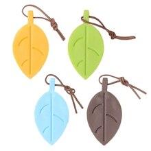 Карамельный цвет силиконовые листья Стиль стоп двери клин Защита ребенка Детская безопасность Фиксаторы-b116