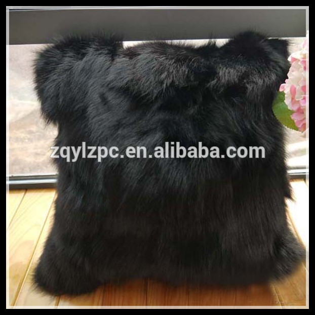 real from fox cushion home on decorative garden aliexpress black covers in com group case item alibaba fur pillow