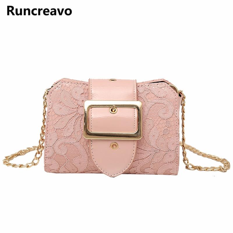 2018 Fashion New Handbag High quality PU Leather Hand holding Mini bag Womens Designer Handbag Elegant Lace Chain Shoulder bags