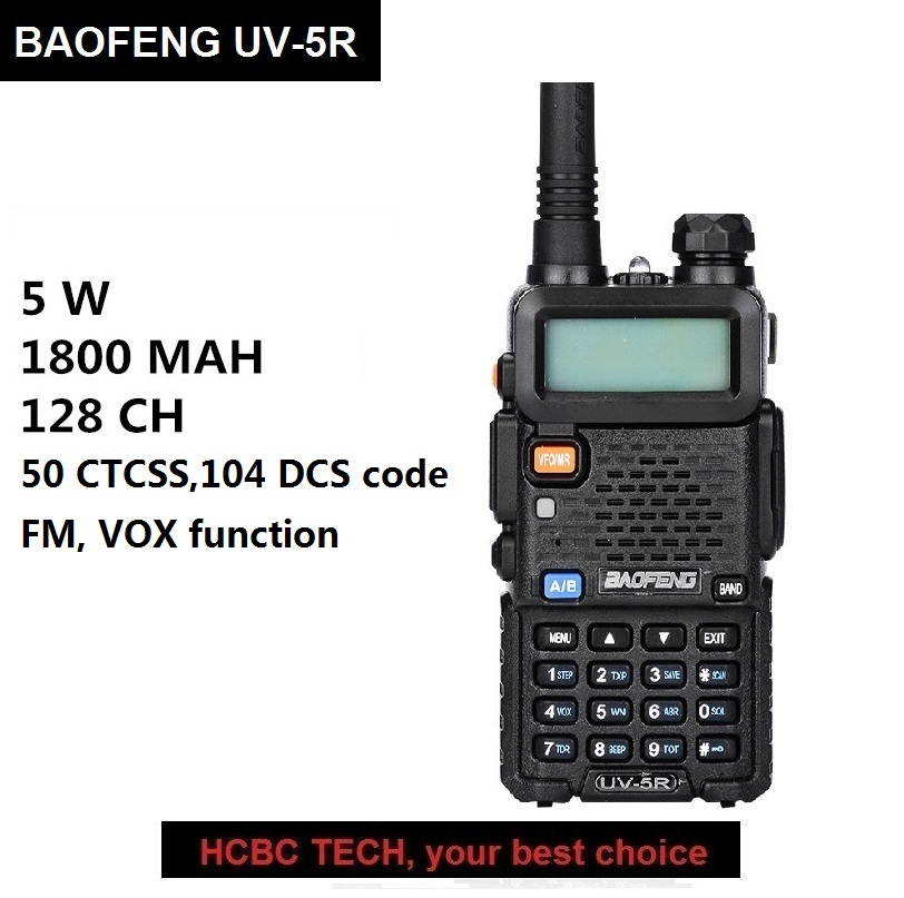 BAOFENG UV-5R Talkie Walkie 10 km UHF VHF Ham Radio Portable CB Émetteur-Récepteur Radio UV 5R Longue Gamme baofeng 5r walkie Wlkie