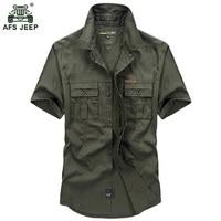 Free Shipping Hot Fashion 2016 Summer Casual Men Shirts Cotton Short Sleeve Military Style Mens Shirts