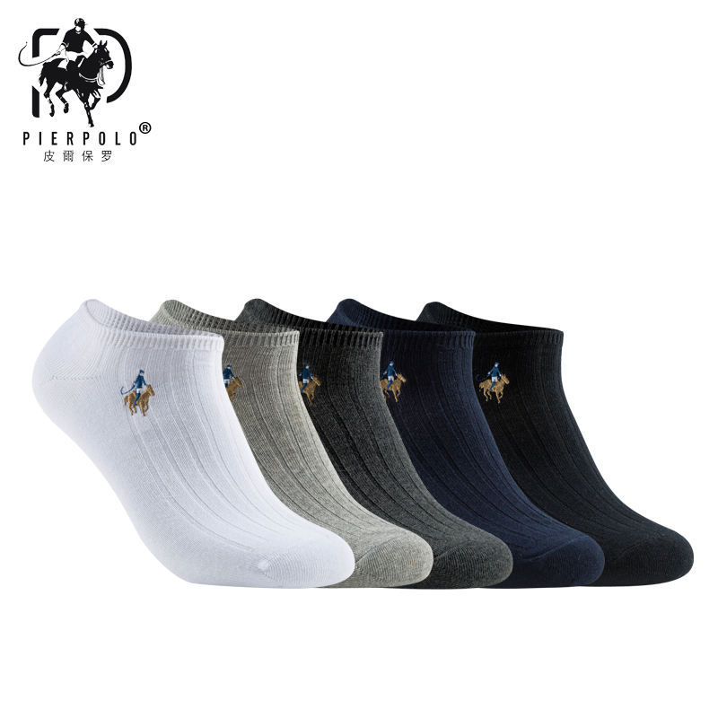 PIER POLO Socks New Brand Fashion Brand Socks Cotton Meia Casual Men's Socks Business Embroidery Summer Happy Socks No Box