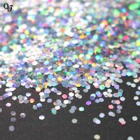 500g Bag Laser Hexagon Shape Nail Art Glitter Tips Nail Manicure Sequins Nail DIY Sparkly Paillette