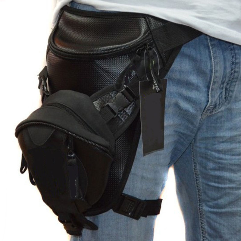 Motorcycle Rider Male Drop Leg Bag Military Trekking Assault Microfiber Men Hip Travel Belt Fanny Waist Pack Bags