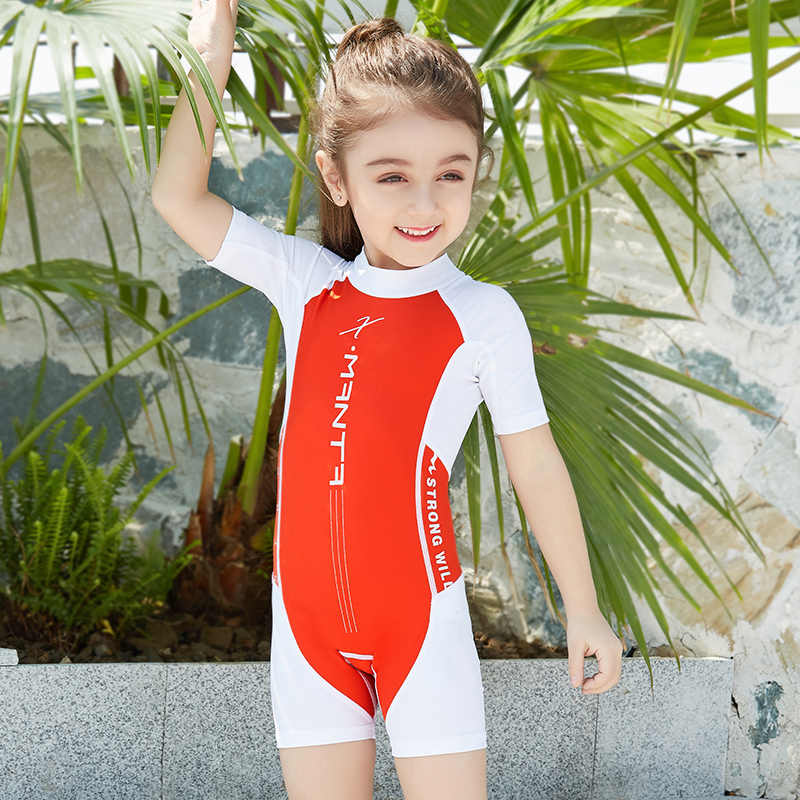 da160a835e8cc ... UPF50+ Children Swimwear One Piece Bathing Suit Swimming Wear Boys  Girls Kids Sun-Protection Sport ...