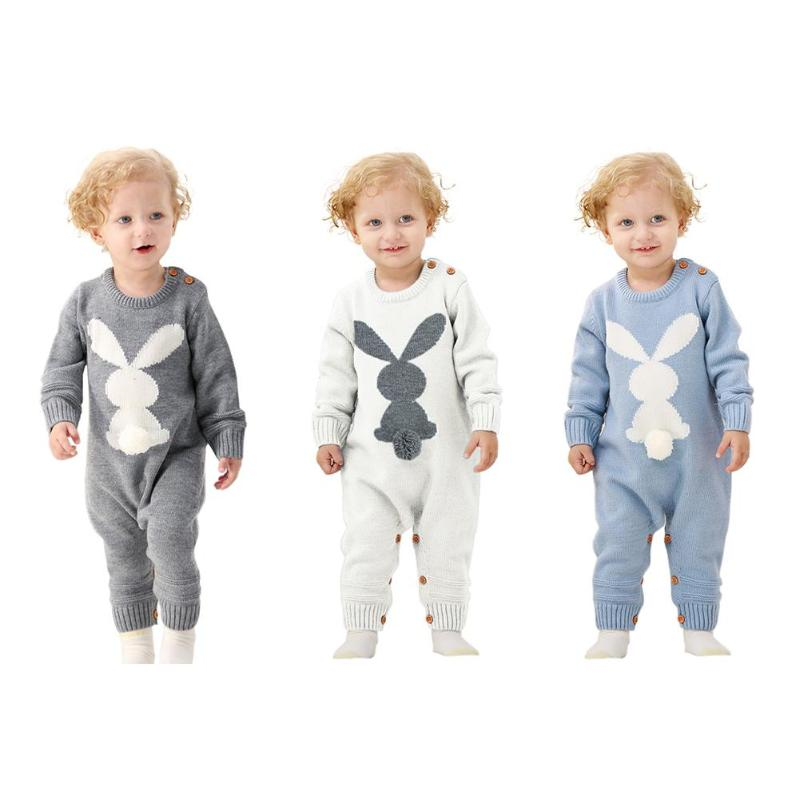 Jocestyle Newborn Baby Winter Warm Rompers Boys Girls