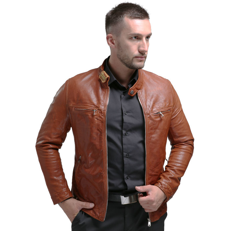 AIBIANOCEL Brand New Lederjacke Winter Echtes Leder Herren Jacke - Herrenbekleidung - Foto 6