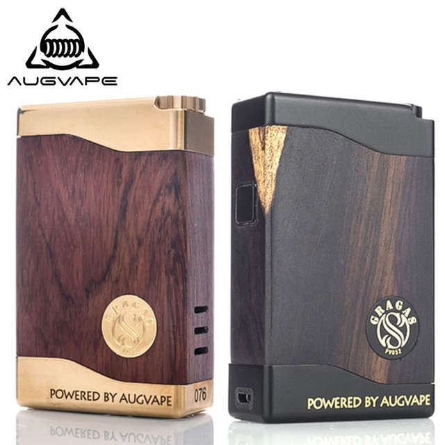 Augvape Gragas Box Mod 80W Dual 18650 Battery Classic Bubinga Dial Adjustment Vape Electronic Cigarette Box Mechanical Mod