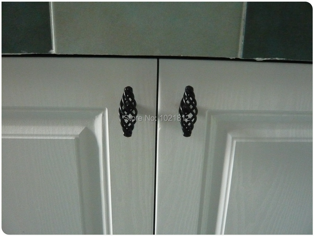 60mm Cabinet S Kitchen Cupboard Handles Closet Drawer Pulls Black Birdcage Series In From Home Improvement On