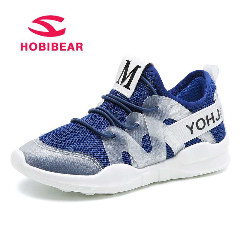HOBIBEAR Summer Children Shoes Boys Sneakers Kids Trainer Breathable Mesh Slip-on Kid Casual Shoe Water Quick-Dry School Trainer