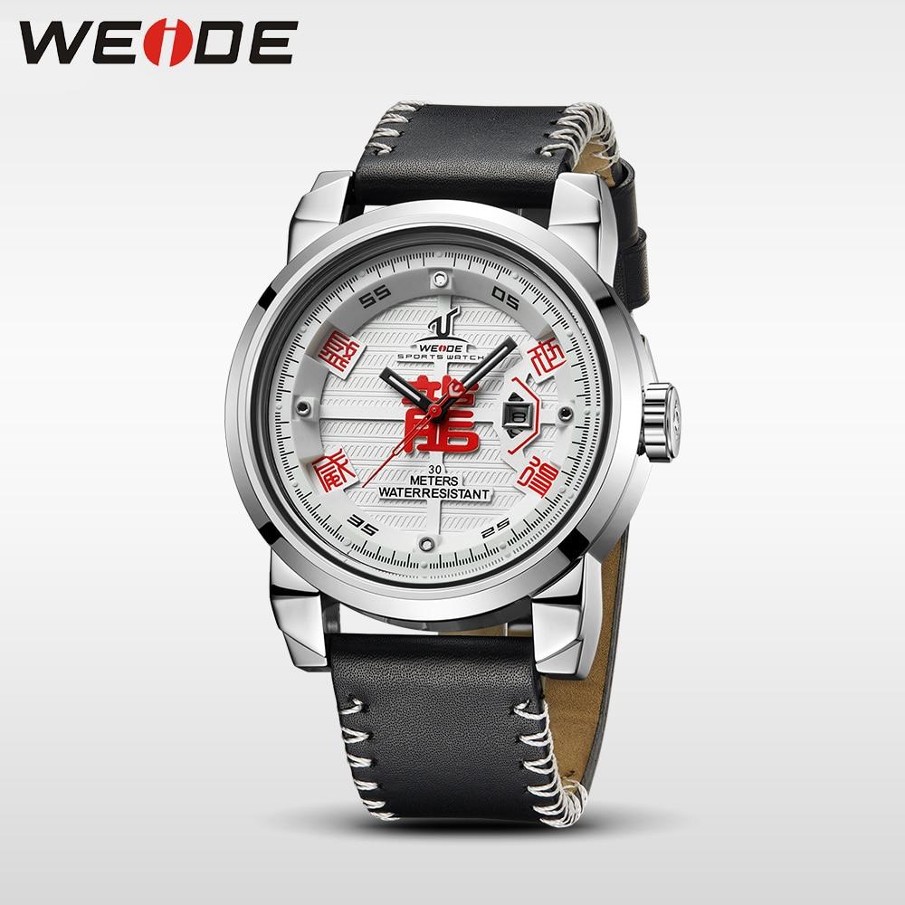 WEIDE Marca de Relojes para Hombre 30 Correa de Cuero de Alta Calidad - Relojes para hombres - foto 2