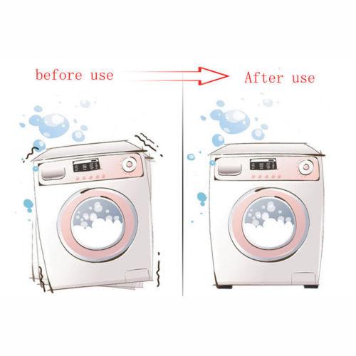 Black Washing Machine Pads Anti Noise Vibration Non Slip Walking Dryers 4Pcs Good protection for electrical appliances 3