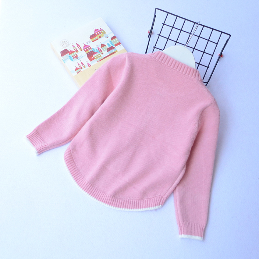 4493687bc477 Everweekend Cute Girls Boys Gray Pink Rainbow Cloud Knitted Sweater ...
