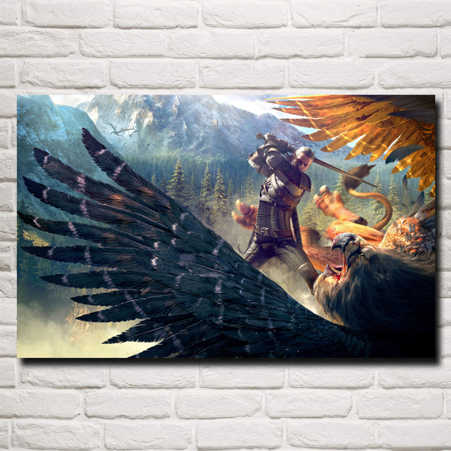 The Witcher 3: Wild Hunt Geralt of Rivia Game Art Silk Poster Home Decor Printing 12×19 15×24 19×30 22×35 Inches Free Shipping