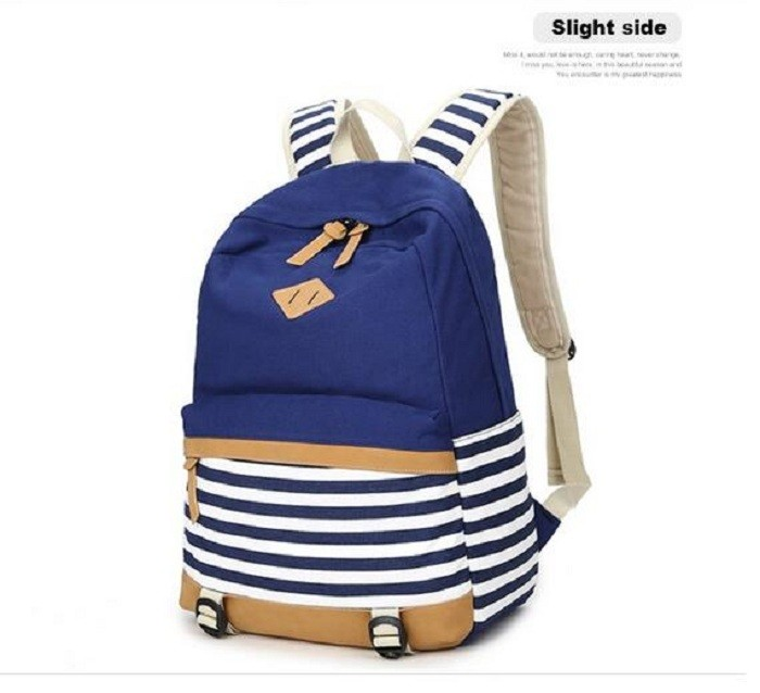 de051a1437 2016 formal backpack school bags for teen girls cute striped canvas print backpacks  female school backpack