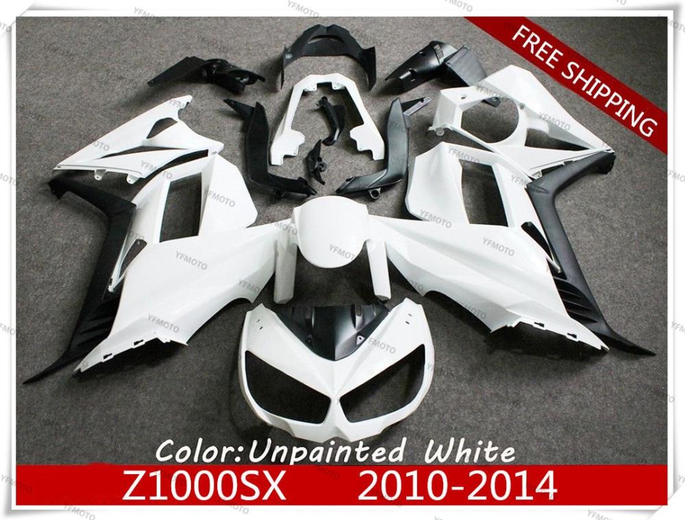 Мотоцикл неокрашенный Белый Обтекатели кузова Комплект для Kawasaki сайту z1000sx мотоцикл z1000 SX и 2010-2014 11 12 13 +4 подарок