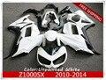 Motorcycle Unpainted White Fairings BodyWork Kit For KAWASAKI Z1000SX Z1000 SX 2010-2014 11 12 13 +4 Gift