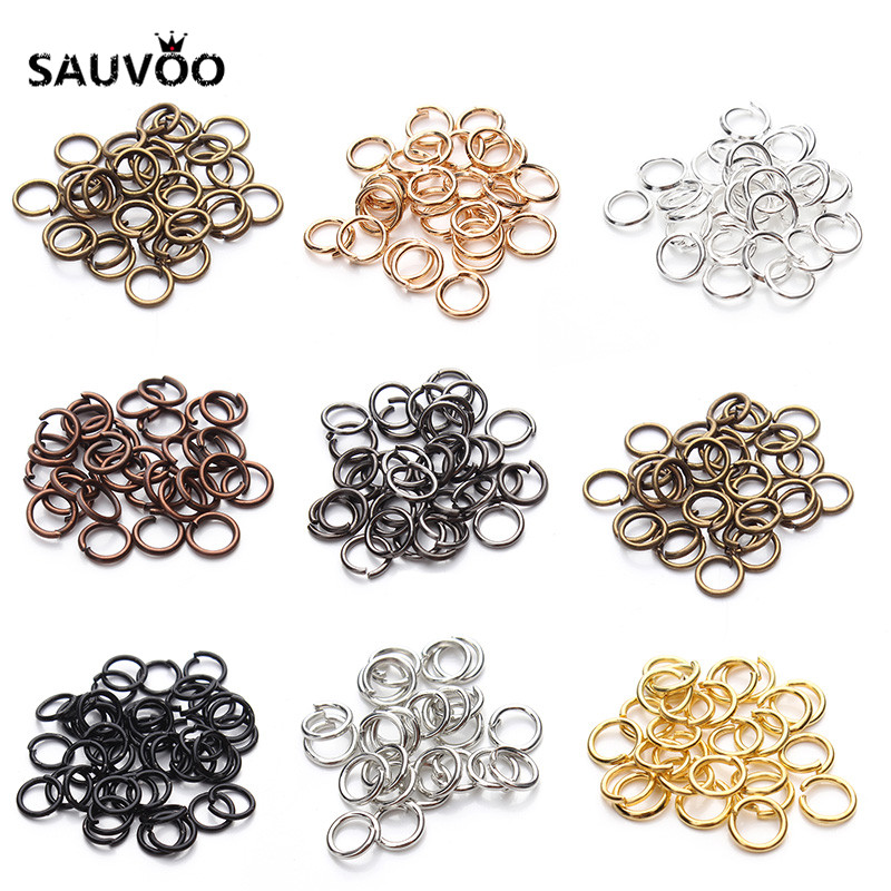 200pcs/lot 4mm 6mm Jump Ring Single Loop Open Jump Rings Split Rings for Jewelry Necklace Bracelet Chain Connector Findings F309 цена и фото
