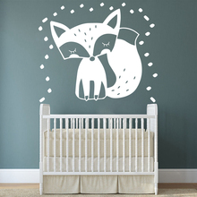Pretty Forest Fox Removable Art Vinyl Wall Stickers Decor Living Room Decals Bedroom Decal vinilo pared
