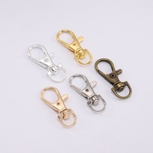 10pcs/lot Gold Silver Split Key Ring Swivel Lobster Clasp Connector For Bag Belt Dog Chains DIY Jewelry Making Findings