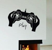 Boys Game Room Vinyl Wall Decal Joystick Video Game Gamer Play Room Boy Teen Mural Wall Sticker Kids Bedroom Home Decoration