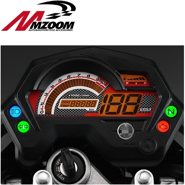 Fantastic Motorcycle Tachometer Fz16 Speedometer New Abs Lcd Panel With Light Wiring Database Ilarigelartorg