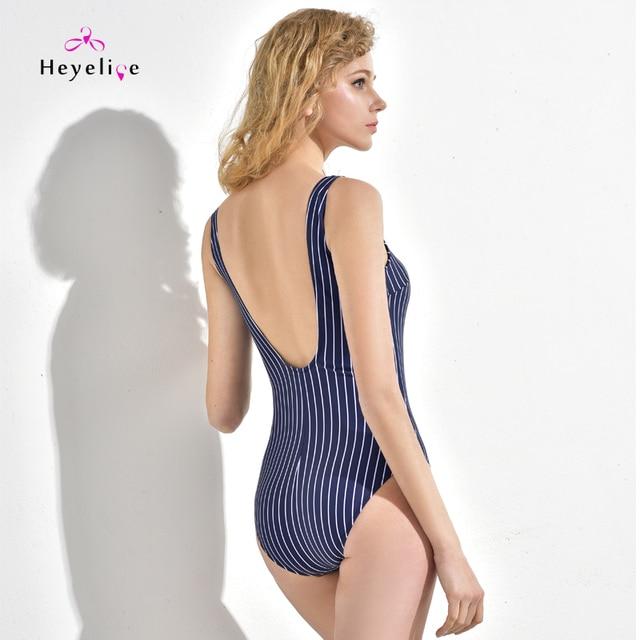 31bcab8fd0 New Striped Swimsuit Women One Piece Open Back Sexy Swimwear Vintage Beach  Girls Bathing Suit High Cut Swimsuit Monokini Trikini