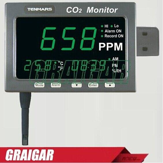 TM 186 /TM 187 Large LED Screen CO2/Temp/RH Monitor|co2 co2|co2 led|temp led - title=