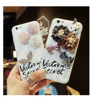 3D Fashion Flower Phone Case For IPhone 6 6s 7 Plus Bow Lipstick Luxury Case For