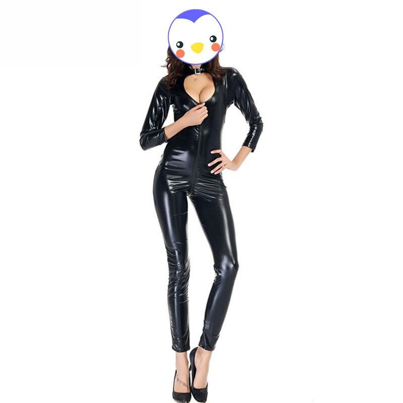 ᐂXxl эротическое Белье Латекс ПВХ платье комбинезон Zentai костюм ... 2a5ab97119d