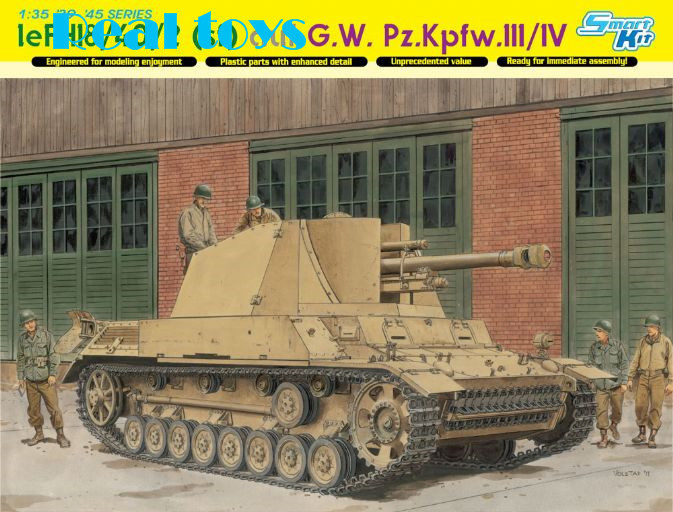 Dragon model 6710 1/35 scale leFH18/40/2 (sf) auf G.W. Pz.Kpfw.III/IV realts dragon 6746 1 35 flak 43 flakpanzer iv ostwind w zimmerit