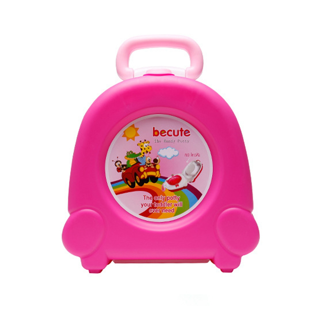 Enfants de voyage petite toilette Enfants toilette portative de Voyage voyage portable voiture-monté portable toilette rose
