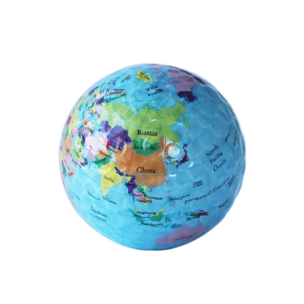 Dropshipping Globe Map Golf Balls Funny Novelty Practice Golf Balls For Kids Men Woman Christmas Birthday Gift Pro