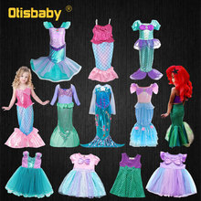 Fancy Baby Girls Princess Little Mermaid Dress Holiday Child Prom Birthday Party Gown Infant Tunic Kids Halloween Costume