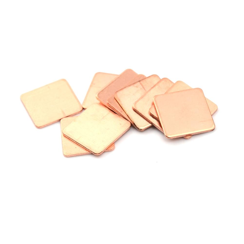 10PCS/set Laptop Copper Sheet Plate Strip Shim Thermal Pad Heatsink Sheet