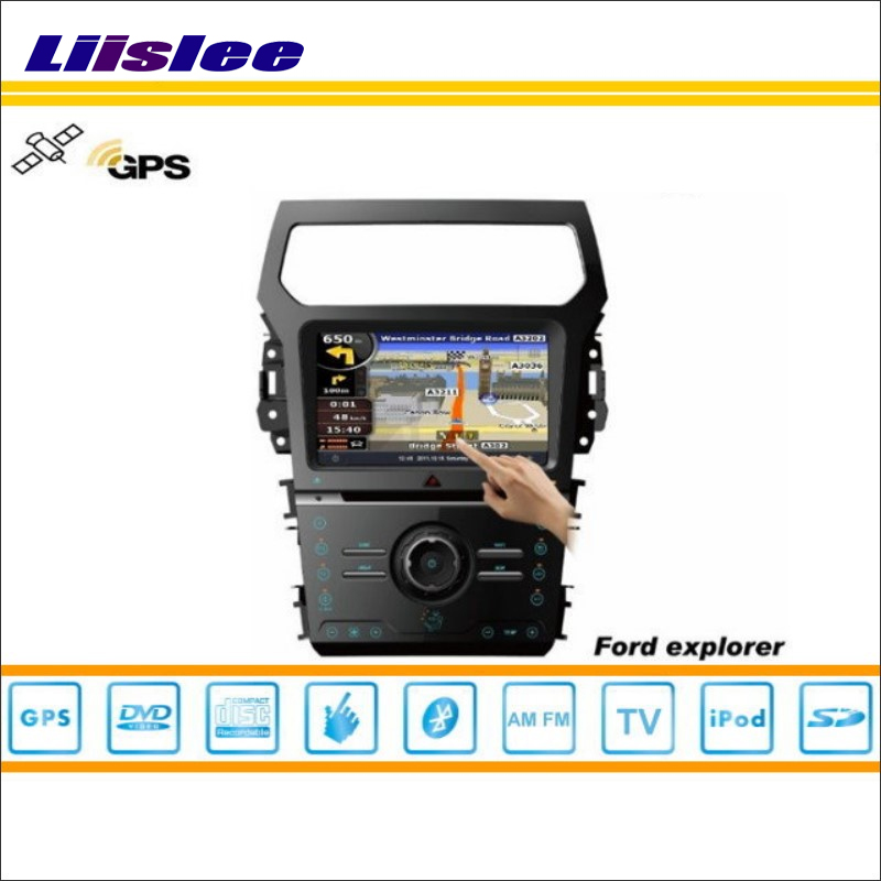 Liislee Car GPS Satellite Navi Navigation Multimedia System For Ford Explorer 2011~2014 Radio CD DVD Player TV HD Touch Screen