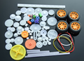 78 kinds gear bag toy model pulley plastic worm gear reducer diy kit All kinds of motor gear axle sleeve belt car accessories 34