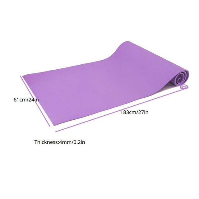 EVA Yoga Mat 4mm Non-slip Lose Weight Gym Fitness Exercise Pad 183*61cm