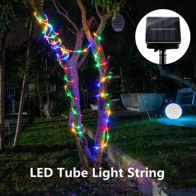 Image 3 - LED Rope Lighting RGB LED String Light Waterproof Color Changing with Remote Power Supply Usb Solar Tree Lights Patio Christmas-in LED String from Lights & Lighting