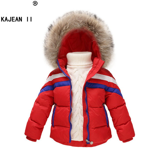 Winter Children Girls Boys Jackets Brand Hooded Kids Baby Boys Girls Clothing Outerwear For 1-7 Years Warm Boys Down Coats