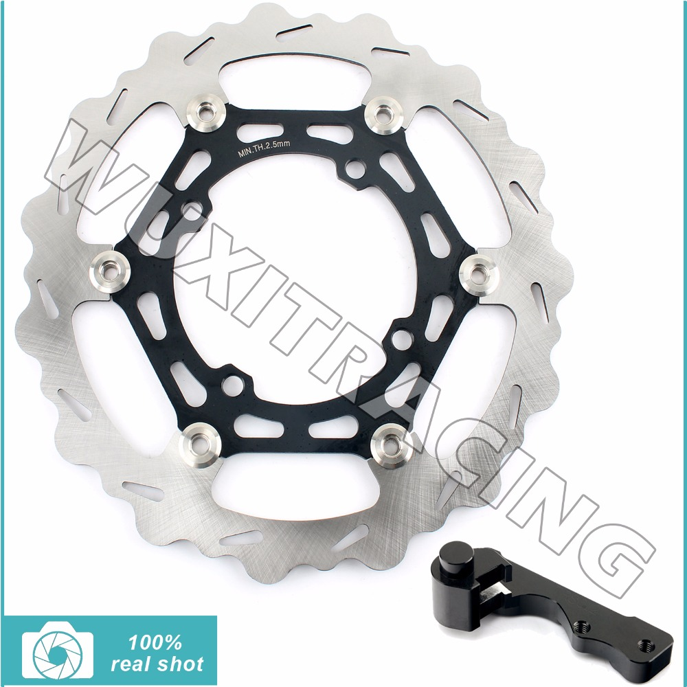 270MM Oversize Front Brake Disc Rotor Bracket Adaptor for KAWASAKI KX 125 250 KX125 KX250 2003 2004 2005 KX F 250 KX250F 2004 05 high quality 270mm oversize front mx brake disc rotor for yamaha yz125 yz250 yz250f yz450f motorbike front mx brake disc