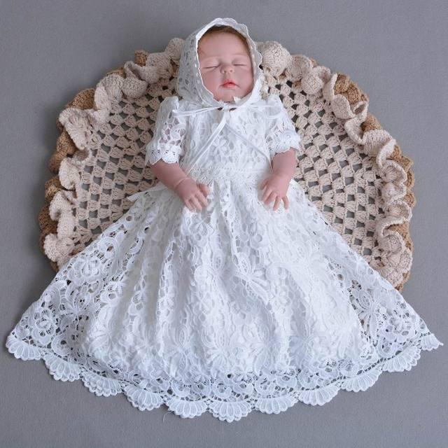 36c58681 US $21.74 25% OFF|Do sprzedaży detalicznej niemowlę dziecko dziewczyna  koronka długa długość sukienki chrzest chrzciny suknia Tulle formalna ...