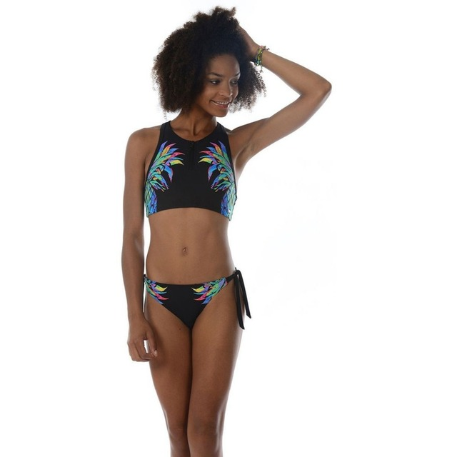 c84780d222 2018 Pineapple Bikinis Swimsuit Girl Crop Top Swimming Suit For Women  Brazilian Push Up Strappy Triangle Swimwear